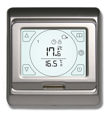 Touch Screen Silver Thermostat for Underfloor Heating